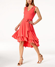 Vince Camuto Layered High-Low Dress