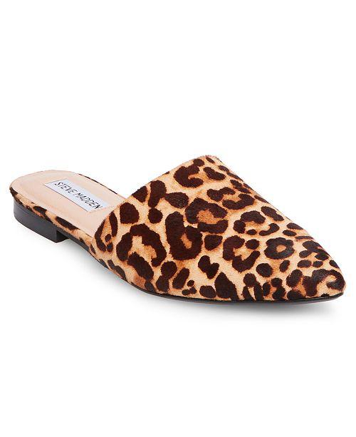 e91f1e45c31ea5 Steve Madden Women s Trace Leopard Mules   Reviews - Mules   Slides ...