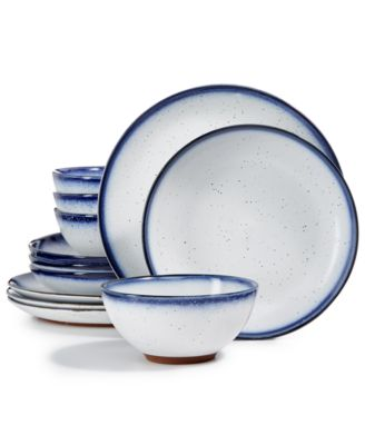 Dip Dye 12-Pc. Dinnerware Set, Service for 4, Created for Macy's