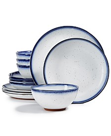 Lucky Brand Dip Dye 12-Pc. Dinnerware Set, Service for 4, Created for Macy's