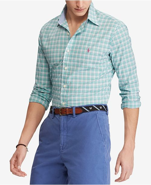 9067f3493fe Polo Ralph Lauren Men s Classic Fit Plaid Shirt   Reviews - Casual ...