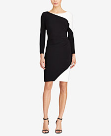 Lauren Ralph Lauren Two-Tone Jersey Dress, Regular & Petite Sizes