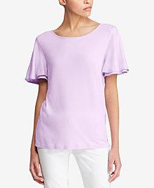 Lauren Ralph Lauren Contrast-Trim T-Shirt