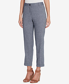 Tahari ASL Straight-Leg Ankle Pants, Regular & Petite