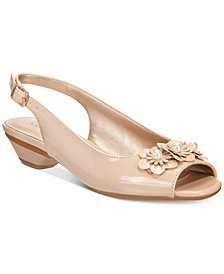 Karen Scott Irmaa Slingback Peep-Toe Pumps, Created by Macy's