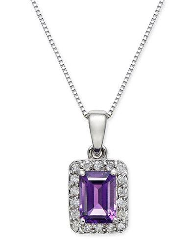 Amethyst (1 ct. t.w.) & Diamond (1/6 ct. t.w.) 18