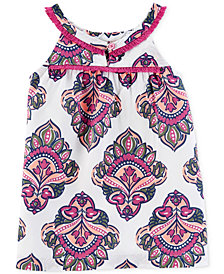 Carter's Fringe-Trim Printed Top, Little & Big Girls