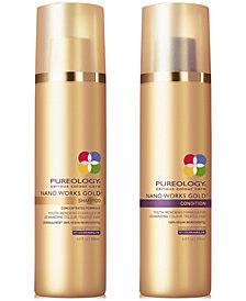 Pureology Nano Works Gold Shampoo & Conditioner (Two Items), 6.8-oz., from PUREBEAUTY Salon & Spa