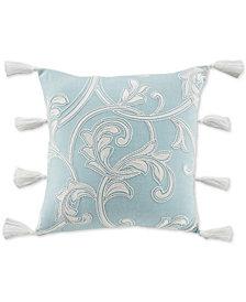 """CLOSEOUT! Croscill Willa Square 18"""" x 18"""" Decorative Pillow"""