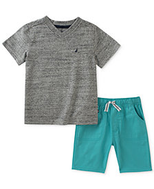 Nautica 2-Pc. Logo T-Shirt & Shorts Set, Baby Boys