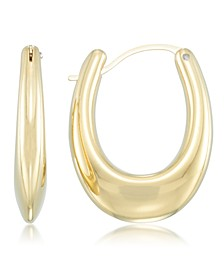 Diamond Accent Graduated Hoop Earrings in 14k Gold over Resin