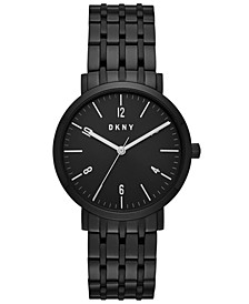 Women's Minetta Black Stainless Steel Bracelet Watch 36mm, Created for Macy's