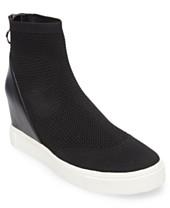 7edfef5dc52 Steve Madden Women s Lizzy Flyknit Wedge Sneakers
