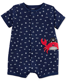 Carter's Baby Boys Printed Cotton Romper