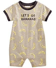 First Impressions Banana-Print Cotton Romper, Baby Boys, Created for Macy's