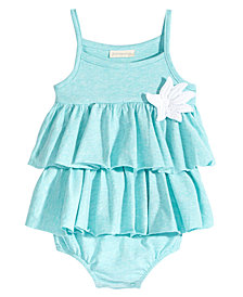 First Impressions Baby Girls Tropical Flower Cotton Romper, Created for Macy's