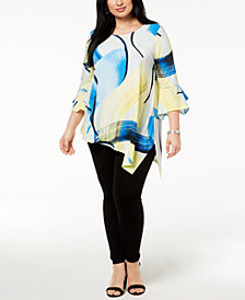 Alfani Plus Size Asymmetrical Top, Created for Macy's