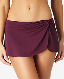 Anne Cole Solid Sarong Swim Skirt