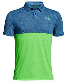 Under Armour Threadborne Colorblocked Polo Shirt, Big Boys
