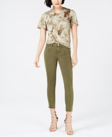 Hudson Jeans Nico Cropped Lace-Up Skinny Jeans