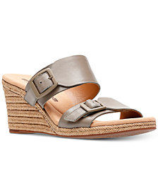 Clarks Collection Women's Lafely Devin Wedge Sandals