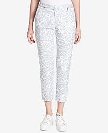 Calvin Klein Printed Zip-Detail Pants