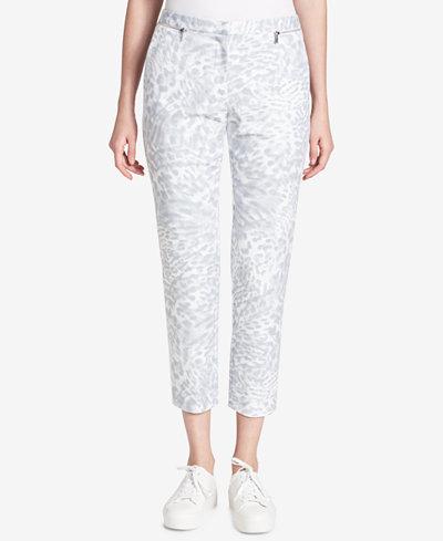 Calvin Klein Printed Zip-Detail Pants