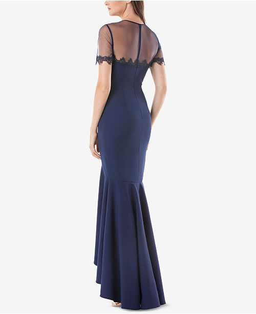 JS Collections High-Low Illusion Gown - Dresses - Women - Macy\'s