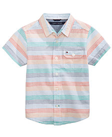 Tommy Hilfiger Tyler Striped Cotton Shirt, Little Boys