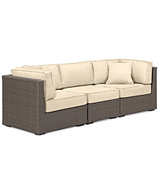 South Harbor Outdoor 3-Pc. Modular Seating Set (2 Corner Units & 1 Armless Unit), with Custom Sunbrella® Colors, Created for Macy's