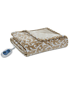 "Beautyrest Adelynn Oversized 60"" x 70"" Heated Plush Throw"