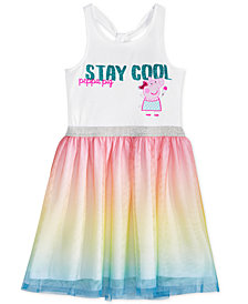 Nickelodeon's® Peppa Pig Graphic-Print Rainbow-Skirt Dress, Little Girls