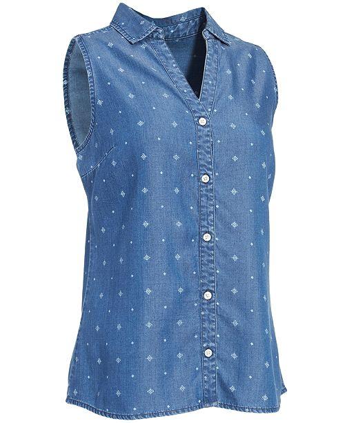 Eastern Mountain Sports EMS® Women's Printed Chambray Sleeveless Shirt