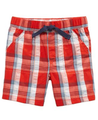 Plaid Cotton Seersucker Shorts, Baby Boys, Created for Macy's