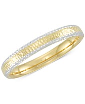 952217feb4d878 Signature Gold™ Two-Tone Textured Bangle Bracelet in 14k Gold & White Gold  over