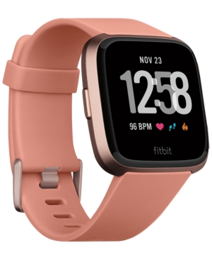Fitbit Versa Peach Band Touchscreen Smart Watch 39mm