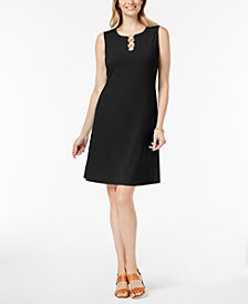JM Collection Petite Three-Ring Sheath Dress, Created for Macy's