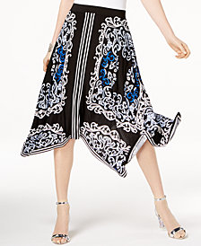 I.N.C. Handkerchief-Hem Midi Skirt, Created for Macy's