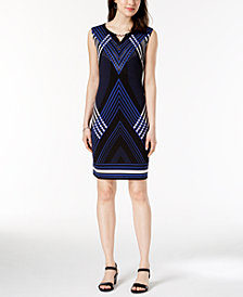 JM Collection Petite Embellished Keyhole Sheath Dress, Created for Macy's