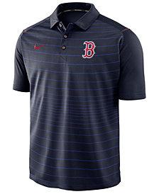 Nike Men's Boston Red Sox Stripe Polo