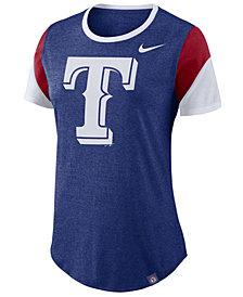 Nike Women's Texas Rangers Tri-Blend Crew T-Shirt