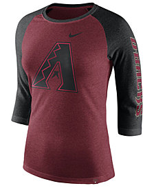 Nike Women's Arizona Diamondbacks Tri-Blend Raglan T-Shirt