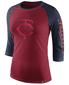 Nike Women's Minnesota Twins Tri-Blend Raglan T-Shirt