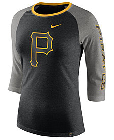 Nike Women's Pittsburgh Pirates Tri-Blend Raglan T-Shirt