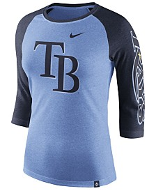 Nike Women's Tampa Bay Rays Tri-Blend Raglan T-Shirt