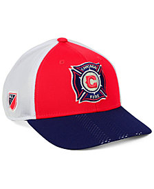 adidas Chicago Fire Authentic Mesh Adjustable Cap