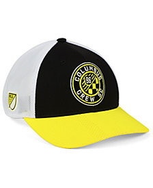 adidas Columbus Crew SC Authentic Mesh Adjustable Cap