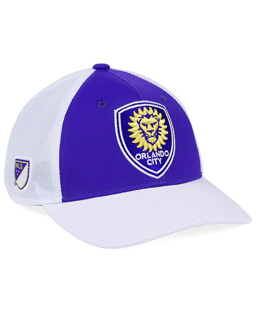 03e1e61b3e6 adidas Orlando City SC Authentic Mesh Adjustable Cap - Sports Fan ...