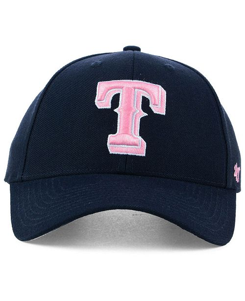 separation shoes 3be45 a6ba6 ... real 47 brand texas rangers navy pink mvp cap sports fan shop by lids  men macys