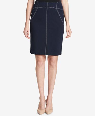 Calvin Klein Stitched Pencil Skirt